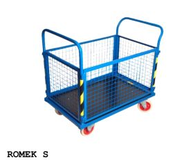 Wózki platformowe - na kołach z pełnej gumy